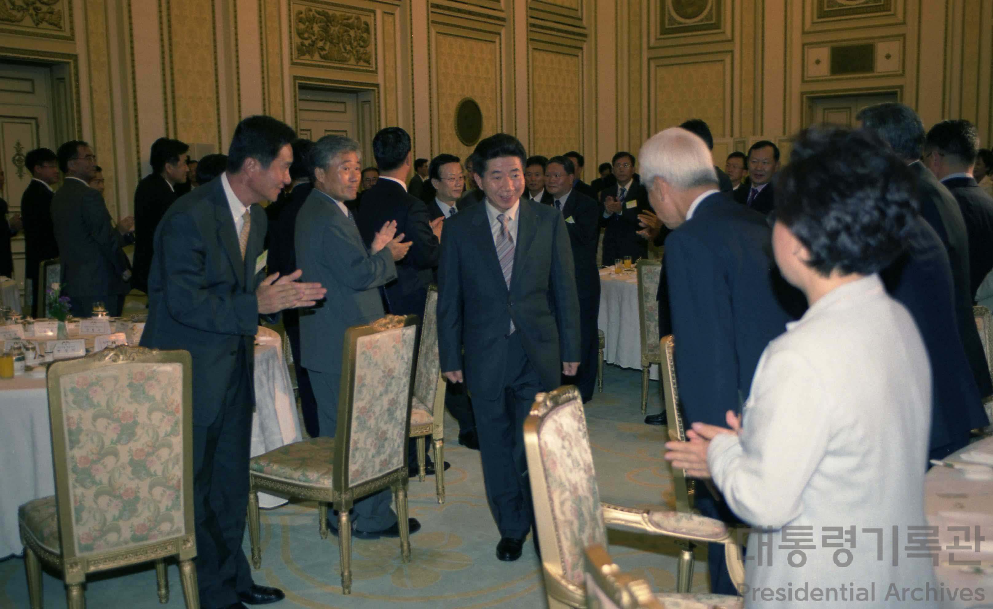 노무현 대통령 중소, 벤처기업 대표와 오찬 참석