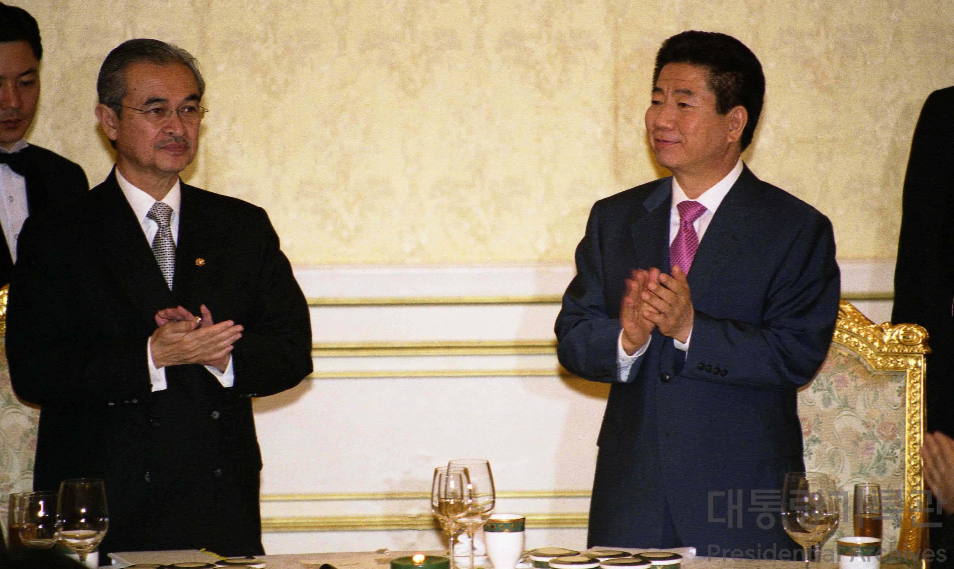 한·말레이시아 정상만찬(노무현 대통령, 압둘라 바다위 총리)2