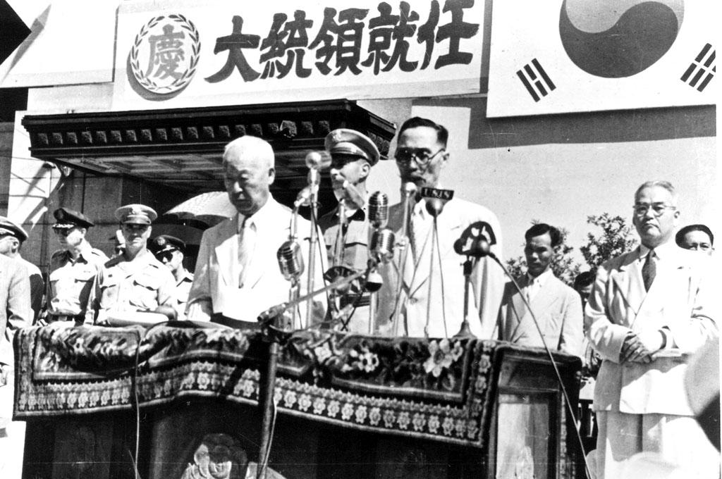 이승만 초대 대통령 취임, 제3광복절 기념 사진