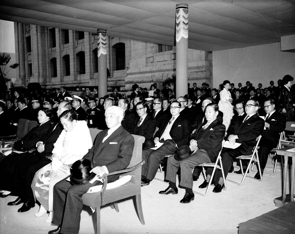 제5대 박정희 대통령 취임식 참석자들 모습 사진
