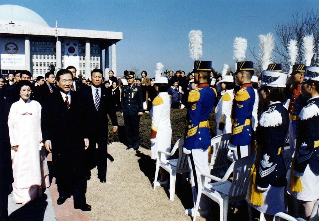 김대중 대통령 내외분 모습 사진