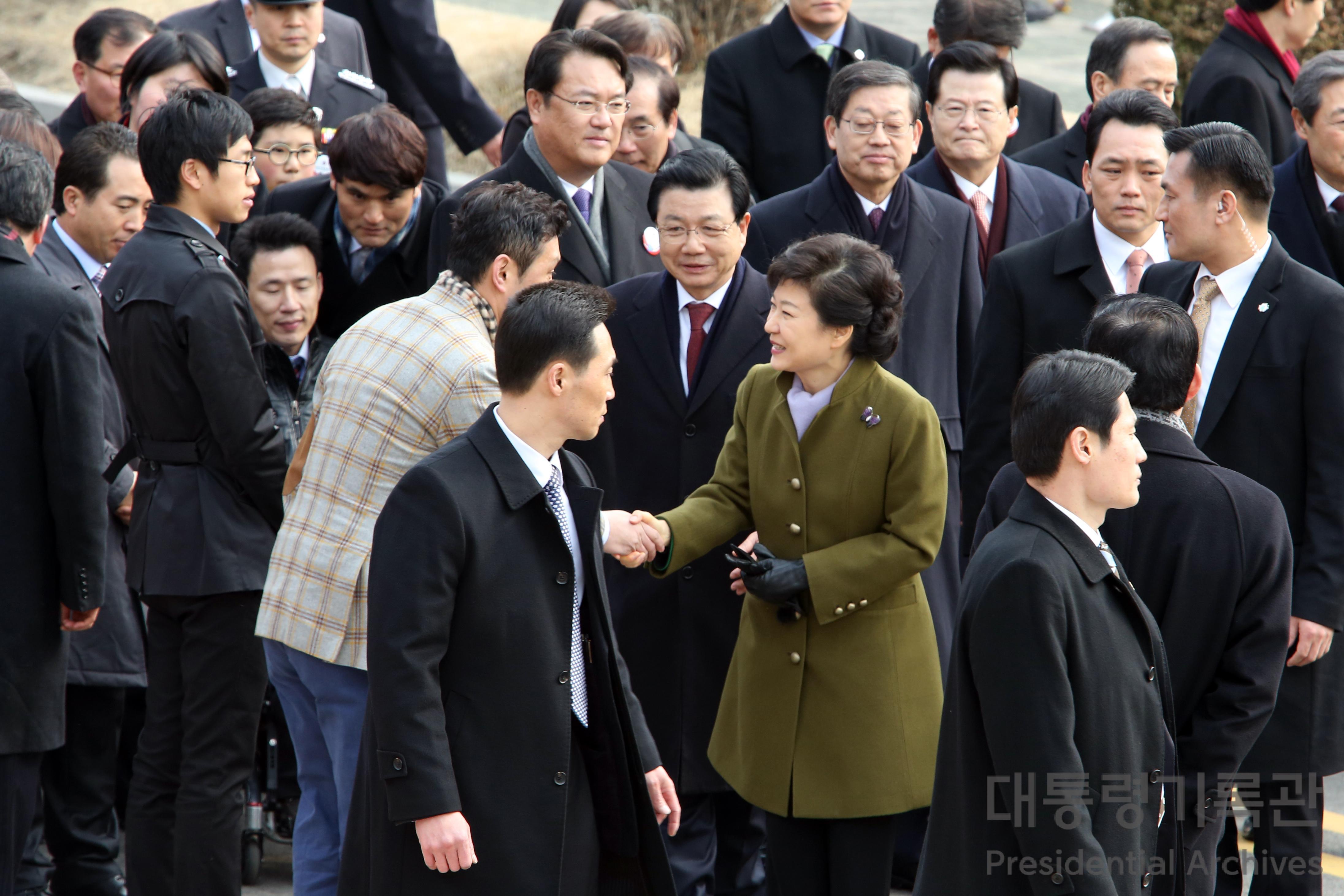 제18대 박근혜 대통령 취임식장 입장 사진