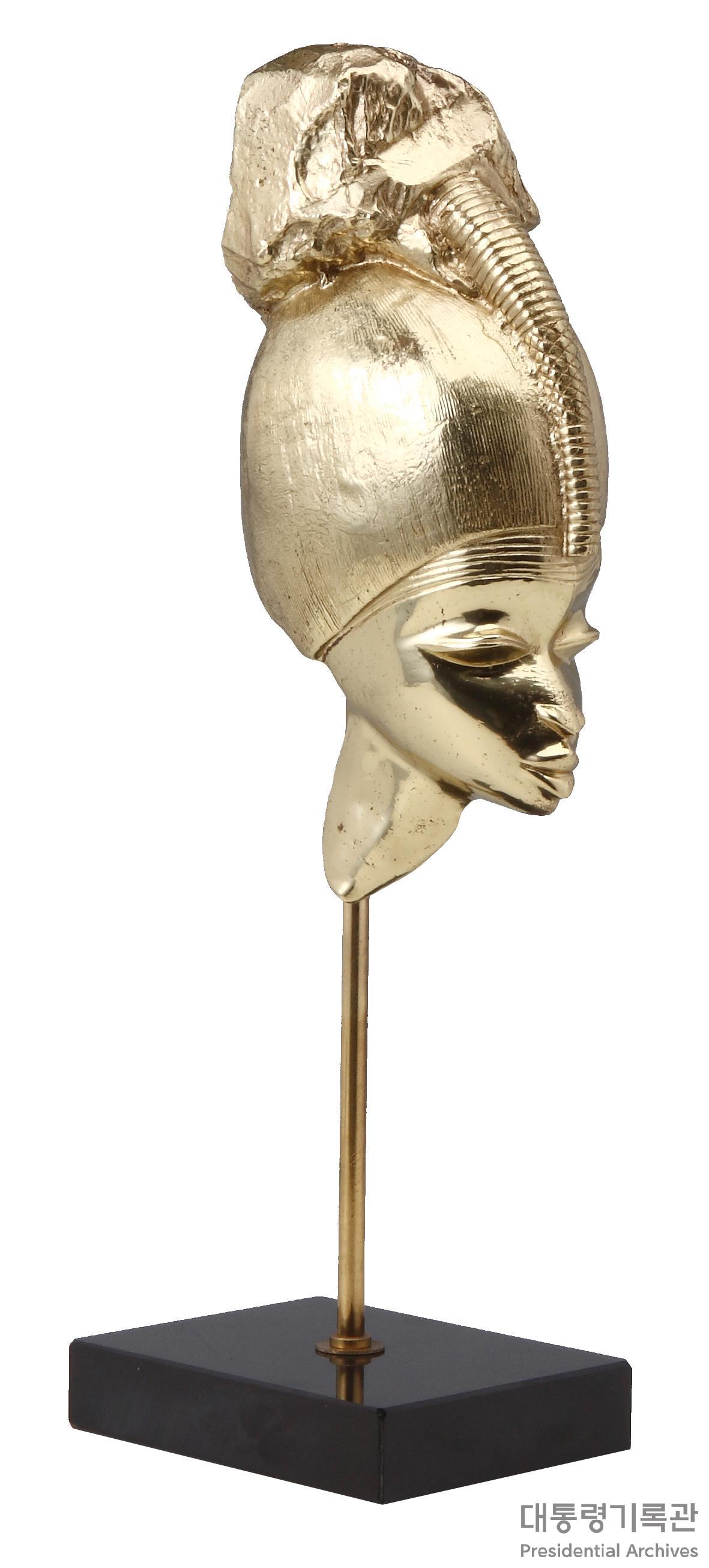 (선물)머리 장식 가봉 여인 두상 사진