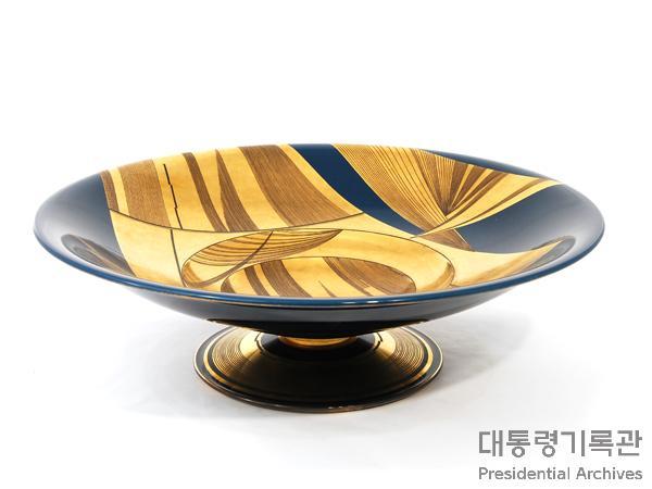 (선물)기하학 무늬 대형 접시 사진