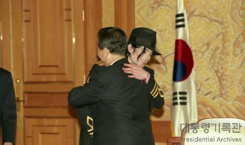 김대중 대통령 마이클 잭슨 접견 사진